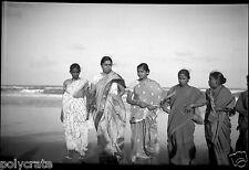 Asie Inde Portrait  femmes en sari  - Ancien négatif photo an. 1920 - 1930
