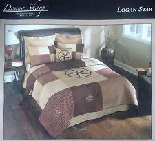 Donna Sharp Logan Star Brown/ BurgangyTan  Comforter Bedspread Twin Quilt w vala
