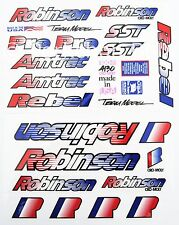 Robinson SST Rebel Amtrac Pro Team old school BMX decal set 1990-1995 on CLEAR