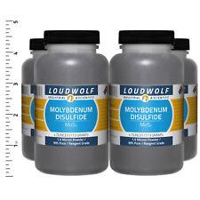 Molybdenum Disulfide 1 lb Total (4 Bottles) Reagent Grade 1.5 Micron Powder