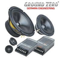 "Ground Zero GZRC 165.3SQ - 6.5"" 3 Way Component Car Speakers 460W Max Power BNIB"
