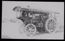 Glass Magic Lantern Slide FOWLER TRACTION ENGINE HEADWAY DATED 1960 PHOTO