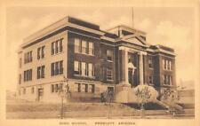 PRESCOTT, AZ Arizona    HIGH SCHOOL  Yavapai County   ALBERTYPE Sepia Postcard