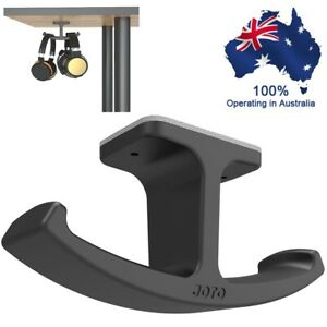 Headphone Stand Hanger JOTO Silicone Under Desk Dual Headset Holder Mount Hook