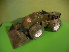 Vintage Tonka Front End Bucket Loader Military 52900 Army Green Steel USED