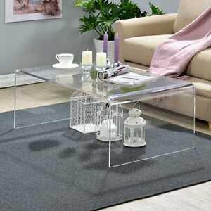 Modern Clear Acrylic Coffee Table