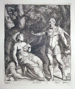 Radierung, Cephalus und Procris, P. da Caravaggio/ J. v. Ossenbeeck, 1660