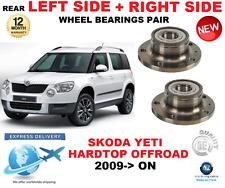per SKODA YETI POSTERIORE CUSCINETTI AUTO COPPIA 2009- > ON 5L Hardtop SX E DX