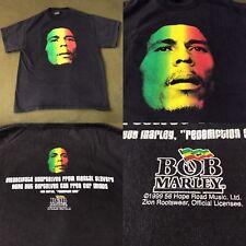 Vintage 90's 1999 Bob Marley T-Shirt Men's L Reggae Ska Rocksteady Rock Band Tee
