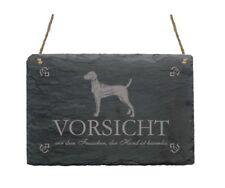 Schild  « VIZSLA » Vorsicht vor dem Frauchen, der Hund ist harlmos