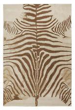 New Brand 5 x 8 Zebra Brown Handmade Contemporary Style Woolen Rug & Carpets