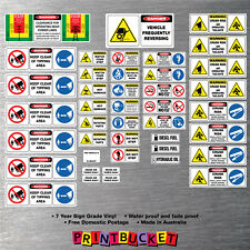 Tipper Truck & trailer risk assessment safety stickers full kit 42 piece site