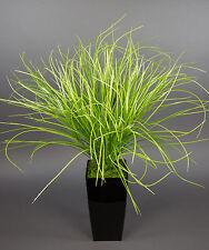 Dekogras / Grasbusch im schwarzen Hochtopf 80cm PF Kunstpflanzen Grasbusch