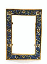 19th Century Chinese Gilt Cloisonne Enamel Picture Photo Frame with Flowers