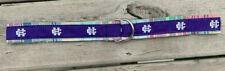 college of holy cross crusaders plaid cotton madras d ring belt medium