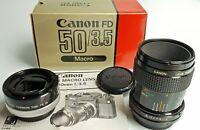CANON FD 50 / 3,5 Macro con FD 25-U