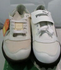 Vintage 1980's Puma Fast Cat Mens Baseball Shoes, Size 7 1/2, White