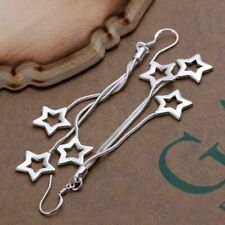 Silver Plated Star Earrings Boho Jewellery Summer Fashion Festival Gift