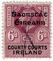 (I.B) George V Revenue : County Courts Ireland 6d (Free State OP)