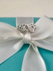Tiffany & Co Sterling Silver 1837 Round Stud Earrings. RRP $460