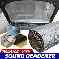 5mm Isolamento Acustico Autoadesivo Cotone Isolante Termica Auto 195x47cm /
