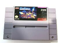 GunForce GUN FORCE SUPER NINTENDO SNES GAME Tested + WORKING & AUTHENTIC!!