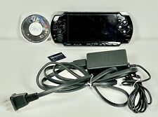Sony PSP 2001 Black Handheld Tested Charger 1 Game No Battery or Cover