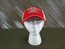 Hornets Baseball Cap Rossville Hat Red & White Adjustable Strap One Size