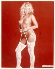 Original Vintage 1990s Semi Nude Large (8 x 10) Photo- Fancy Stockings- Coraline