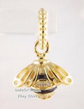 QUEEN BEE Authentic PANDORA Black/Yellow GOLD Plated PENDANT Charm 367075EN16