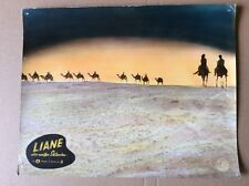 Liane, la blanche esclave (kinoaushangfoto' 57) - Marion Michael/chameaux