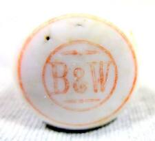 Vintage Porcelain Beer Bottle Stopper B & W .Original Pre Prohibition