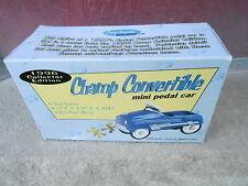 "NRFB Vintage 1996 XONEX ""CHAMP CONVERTIBLE"" Mini Pedal Car w/Original Box (NBS6)"