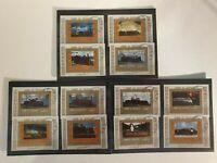 UMM AL QIWAIN 12 stamps 1972 Locomotives, large format 2 sets used