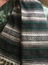 "BRAND NEW AZTEC HUNTER GREEN THROW BLANKET 52""x70"""