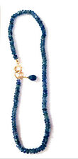 blue sapphire bracelet 14k yellow gold knotted dark blue natural