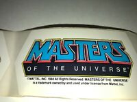 Masters of the Universe Sticker Mattel 1984 He Man MOVIE STICKER. MINT