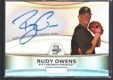 RUDY OWENS 2010 BOWMAN PLATINUM PROSPECT REFRACTOR AUTOGRAPH PIRATES SP $20