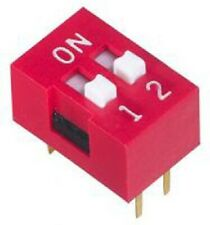 Apem DIP SWITCHES 72Pcs 25mA 2-Positions DPST Through Hole, Recessed Actuator