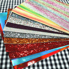 150g Pack Off-Cut Fine Chunky Glitter Vinyl Leather Fabric Craft Bow Material