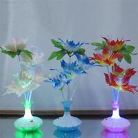 Romantic Fiber Optic Flower Night Light Lamp Home Bedroom Party Decoration