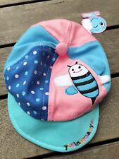 NEW Baby Boy Kids Cute Bee Bumblebee Soft Blue Cotton Sun Cap hat 9-15months