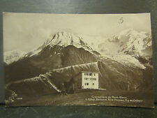 cpa photo 74 edition perrochet cremaillere du mont blanc hotel bellevue