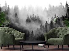 Vlies Fototapete Tapete Wandbild   F19822 Bäume im Nebel Wald Nebel Natur Grün
