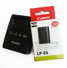 LP-E6 battery + LC-E6E charger For Canon EOS 5D Mark II III 7D 6D 60D 60Da BG-E6