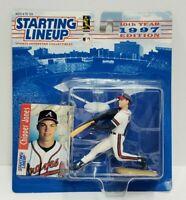 CHIPPER JONES - Atlanta Braves Kenner Starting Lineup SLU MLB 1997 Figure & Card