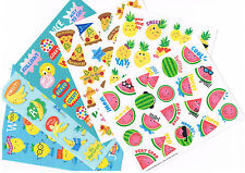 120 x scratch and sniff stickers -6 assorted scents - Watermelon ,Pineapple,etc