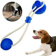 Floor Suction Cup Dog Toy With Ball Tug Ropes Pet Puppy Teeth Cleaning Chew Toys
