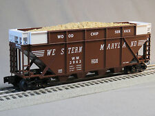 LIONEL WESTERN MARYLAND QUAD WOOD CHIP HOPPER CAR o gauge train c&o 6-82324 H