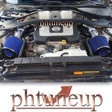 BLACK+BLUE DUAL/TWIN AIR INTAKE KIT fit 2008-2013 INFINITI G37 3.7L ENGINE